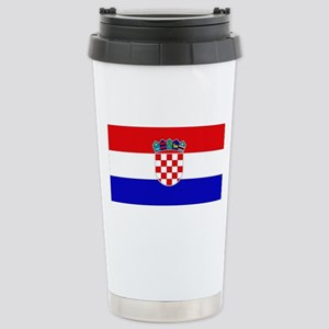 Croatian Flag Stainless Steel Travel Mug