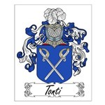 Tonti Family Crest Small Poster