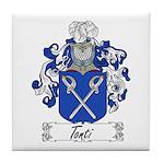 Tonti Family Crest Tile Coaster