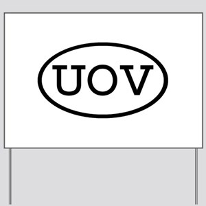 UOV Oval Yard Sign