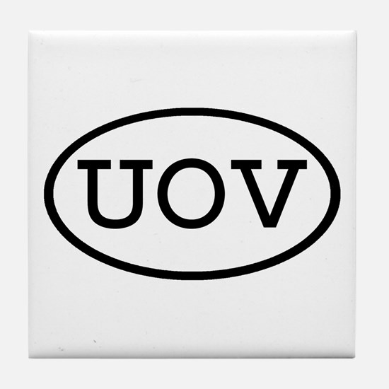 UOV Oval Tile Coaster