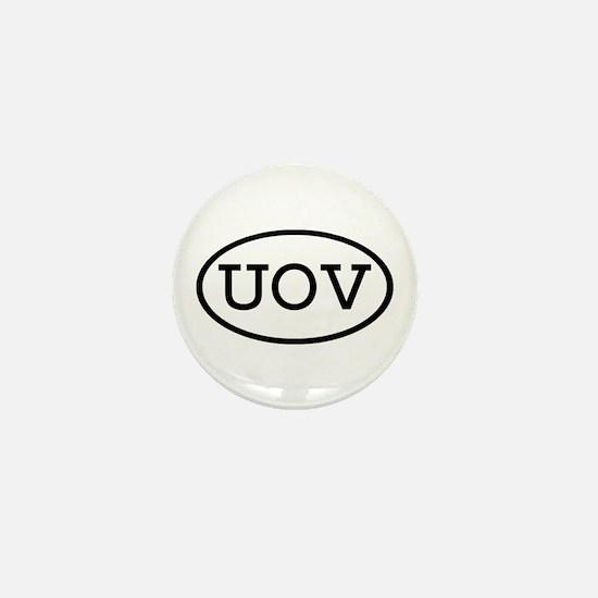 UOV Oval Mini Button