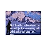 Micah 6:8 Rectangle Magnet