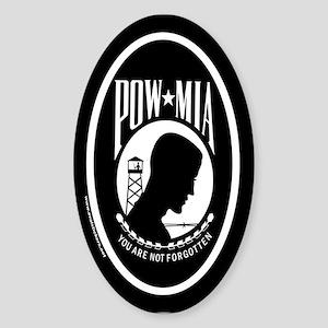 POW MIA Euro Oval Sticker