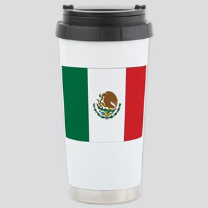 Mexican Flag Stainless Steel Travel Mug