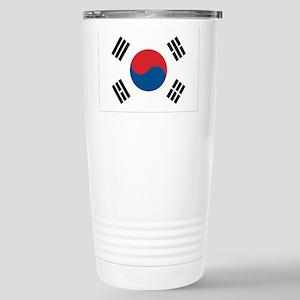 South Korean Flag Stainless Steel Travel Mug