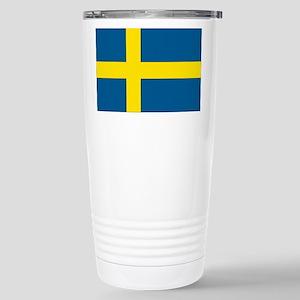Swedish Flag Stainless Steel Travel Mug