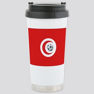 Tunisia Soccer Stainless Steel Travel Mug