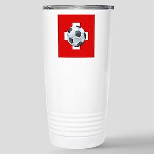 Swiss Soccer Stainless Steel Travel Mug