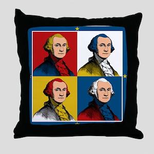 Washington Warhol Throw Pillow