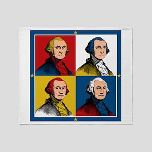 Washington Warhol Throw Blanket