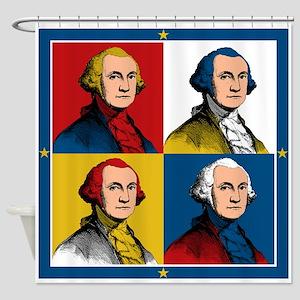 Washington Warhol Shower Curtain