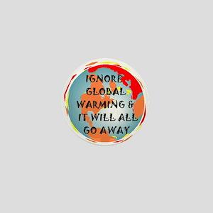 GLOBAL WARMING WARNING Mini Button
