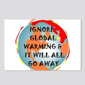 GLOBAL WARMING WARNING Postcards (Package of 8)