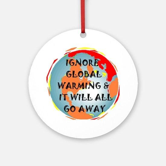 GLOBAL WARMING WARNING Keepsake (Round)