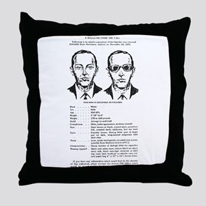 D.B. Cooper Wanted Poster Throw Pillow