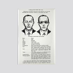 D.B. Cooper Wanted Poster Rectangle Magnet