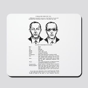 D.B. Cooper Wanted Poster Mousepad