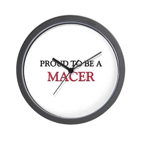 Proud to be a Macer Wall Clock