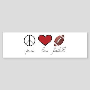 Peace Love Football Bumper Sticker