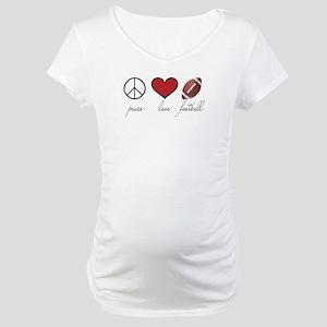 Peace Love Football Maternity T-Shirt