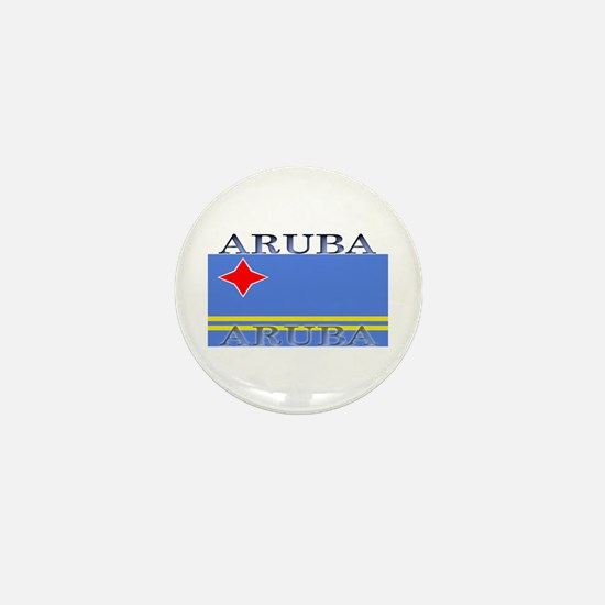 Aruba Aruban Flag Mini Button