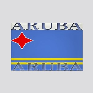 Aruba Aruban Flag Rectangle Magnet