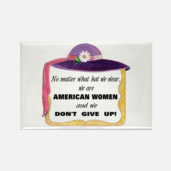 American Women Can! Rectangle Magnet