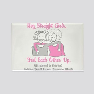 Feel Each Other Up Rectangle Magnet
