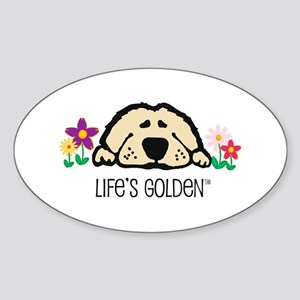 Life's Golden Spring Oval Sticker