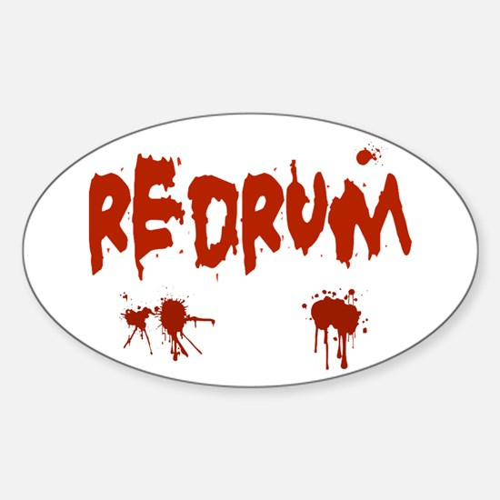 Bloody Redrum Oval Decal