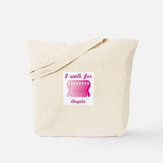 I walk for Angela Tote Bag