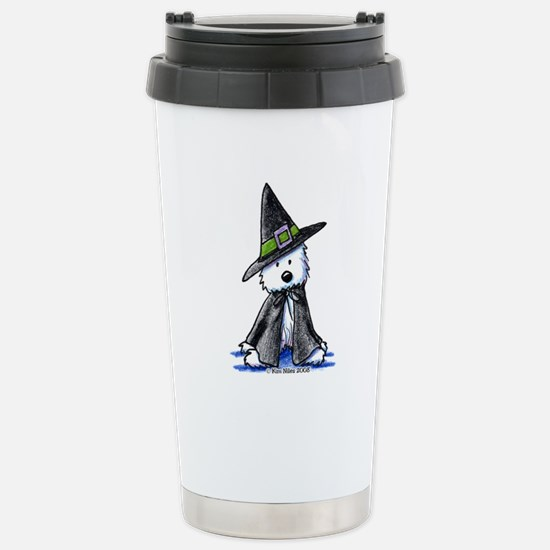 Witchy Westie Stainless Steel Travel Mug