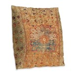 16th Century Burlap Throw Pillow