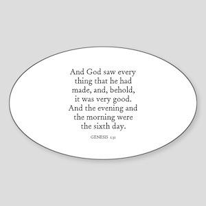 GENESIS 1:31 Oval Sticker