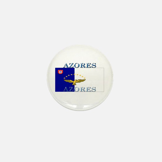 Azores Flag Mini Button