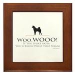 oddFrogg Woo.WOOO Framed Tile