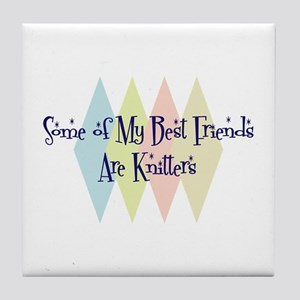 Knitters Friends Tile Coaster