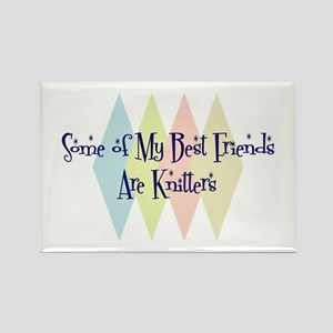 Knitters Friends Rectangle Magnet