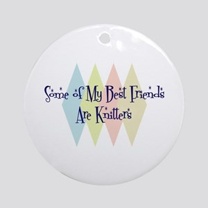 Knitters Friends Ornament (Round)
