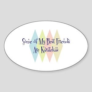 Karatekas Friends Oval Sticker