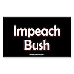 """""""Impeach Bush"""" Rect Sticker (10)"""