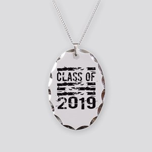 Class of 2019 Necklace Oval Charm