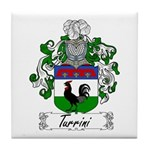 Turrini Family Crest Tile Coaster