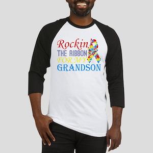 Rockin The Ribbon For My Grandson Baseball Jersey