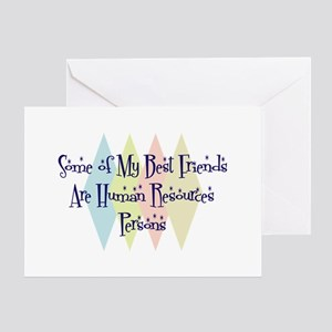 Human Resources Person Friends Greeting Card