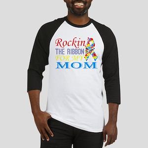 Rockin The Ribbon For My Mom Aware Baseball Jersey