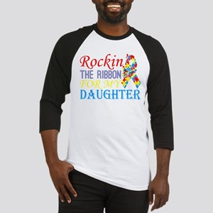 Rockin The Ribbon For My Daughter Baseball Jersey