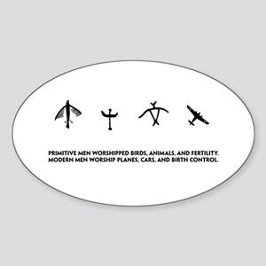 Primitve vs. Modern Worship - Oval Sticker