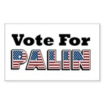Vote for Palin - Sarah Palin Rectangle Sticker 50